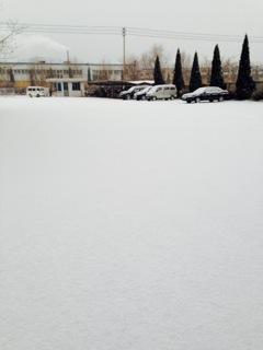 大連工場雪化粧